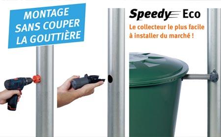 Collecteur recuperateur eau de pluie speedy eco garantia jardideco - Collecteur eau de pluie gouttiere ...