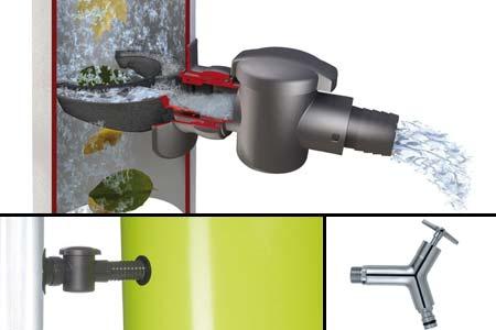 Recuperateur eau de pluie pot de fleur collecteur 350 l color garantia - Collecteur eau de pluie gouttiere ...