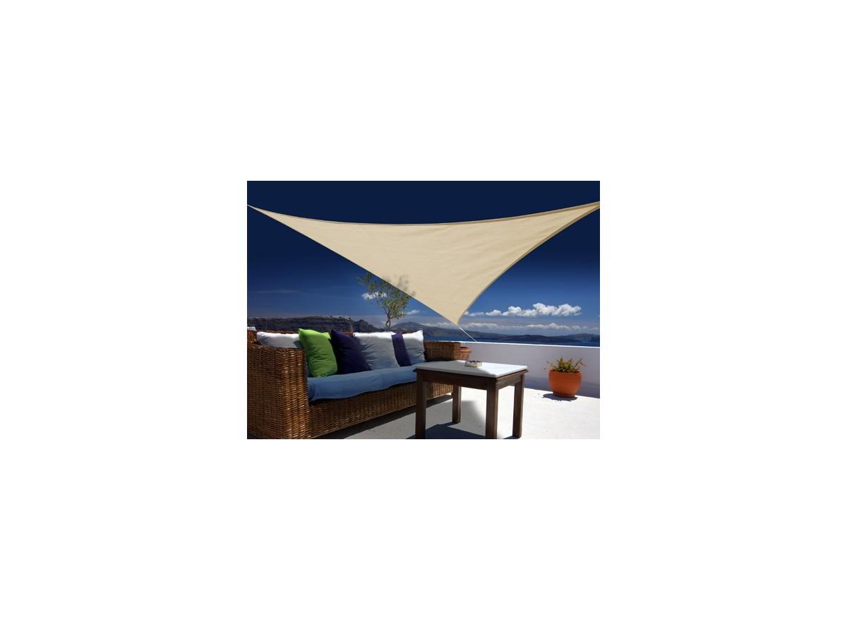 voile d 39 ombrage triangulaire 3 60 m austral 180g m. Black Bedroom Furniture Sets. Home Design Ideas