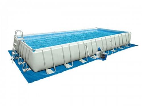Tapis de sol pour piscine rectangulaire intex jardideco - Tapis de sol pour piscine ...