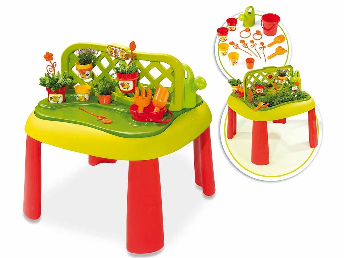 table de jardinage pour enfant accessoires smoby jardideco. Black Bedroom Furniture Sets. Home Design Ideas