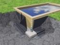 Nappe de protection des parois pour piscine bois L.20 x H.1,50 m