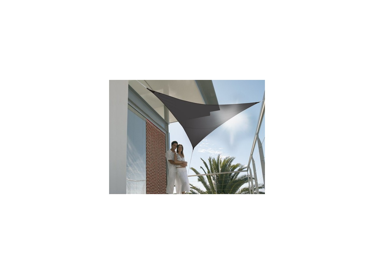 Voile d 39 ombrage triangulaire 3 60 m 185g m - Voile d ombrage jardiline ...