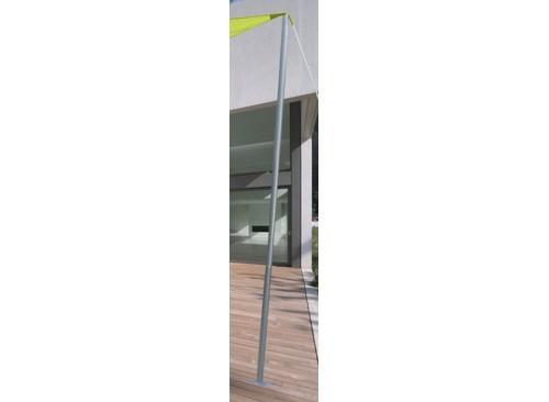 Mât acier pour voile d'ombrage Ø 50 mm - 2,40 m