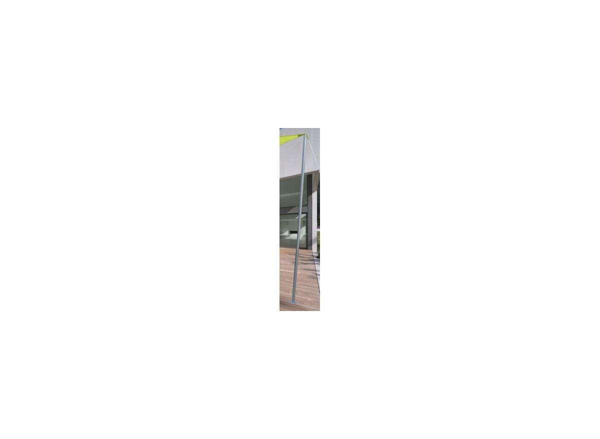m t acier pour voile d 39 ombrage 50 mm 2 40 m jardideco. Black Bedroom Furniture Sets. Home Design Ideas