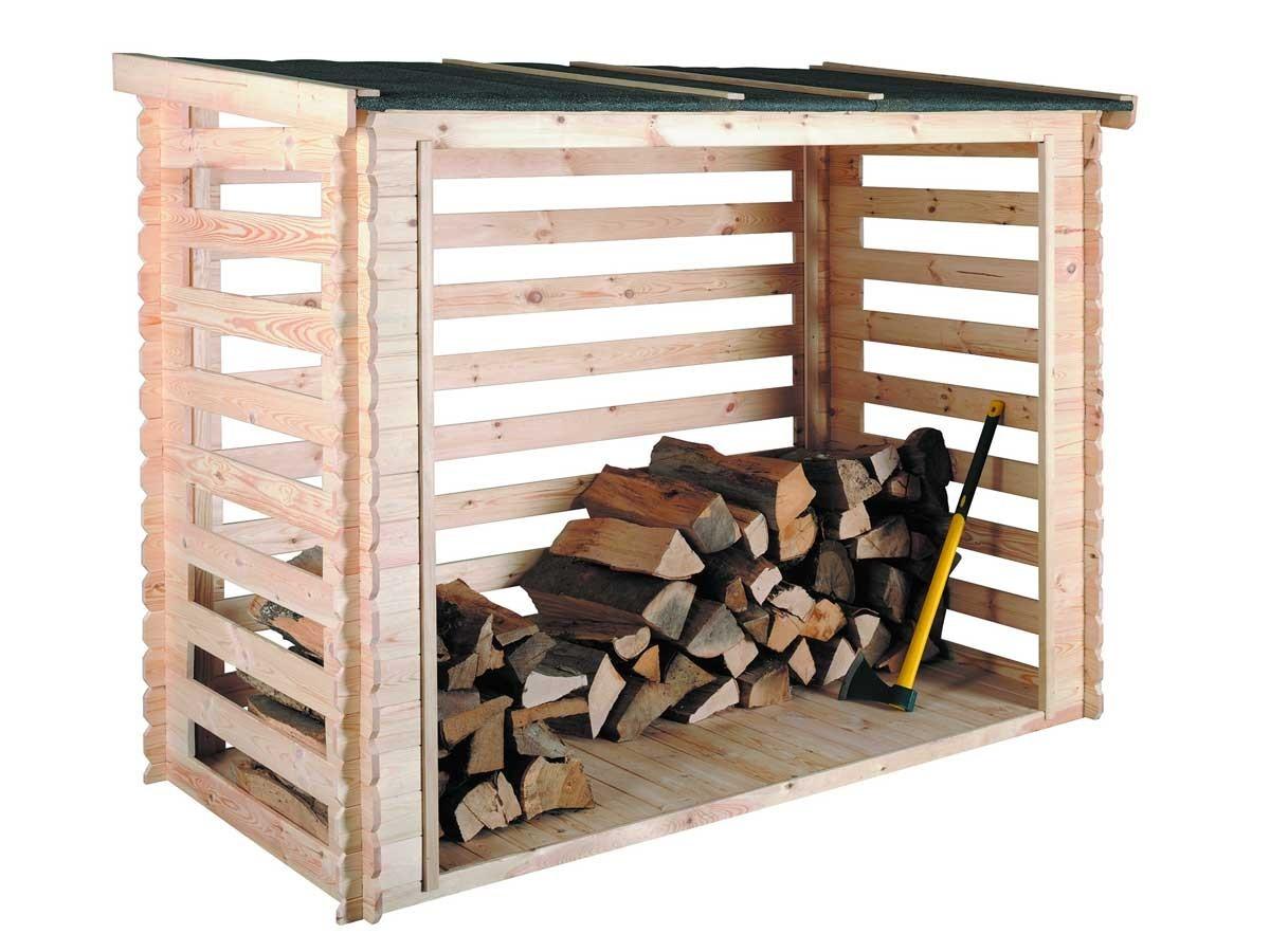 Abri bûches en bois avec plancher Come   3,5 stères   Jardideco edc9cba615ac