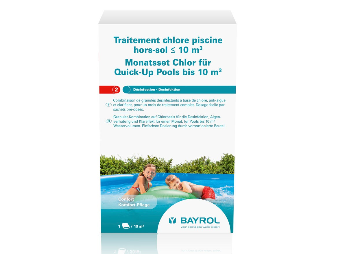 Traitement au chlore pour piscine hors-sol de 10 m³ - Bayrol