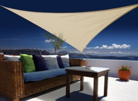 Voile d'ombrage triangulaire 3 x 3 x 3 m