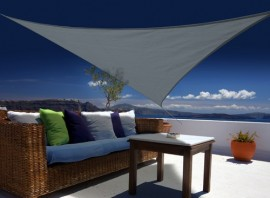 Voile d'ombrage triangulaire Austral 3,60 x 3,60 x 3,60 m