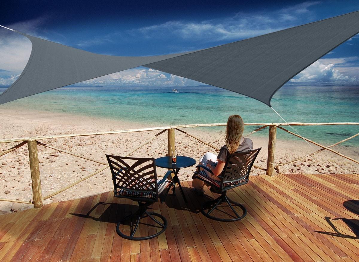 voile d 39 ombrage rectangulaire 4 x 3 m austral jardideco. Black Bedroom Furniture Sets. Home Design Ideas