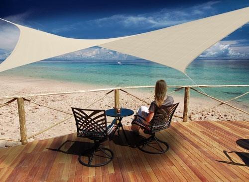 voile d 39 ombrage hesperide pour terrasse balcon jardin. Black Bedroom Furniture Sets. Home Design Ideas
