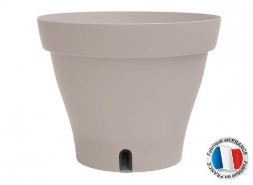 Pot de fleur plastique carré ou rond - taille et couleur au choix