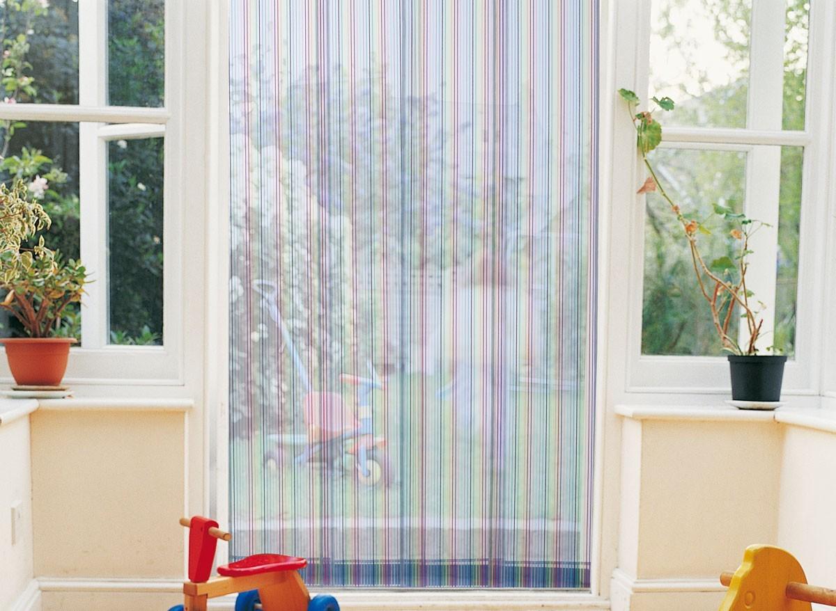 Rideau de porte moustiquaire moustirayures jardideco - Rideau moustiquaire pour baie vitree ...