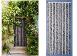 rideau de porte olives de buis naturel 90 x 220 cm. Black Bedroom Furniture Sets. Home Design Ideas