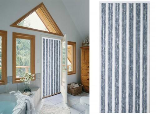 Rideau de porte moustiquaire chenille florence jardideco - Rideau 160 de large ...