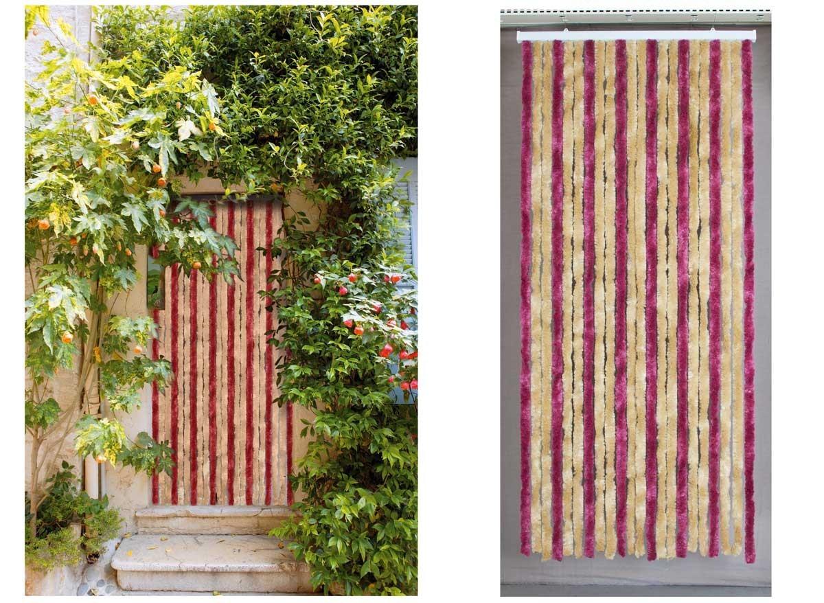 Rideau de porte moustiquaire chenille florence jardideco - Rideau de porte exterieur ...
