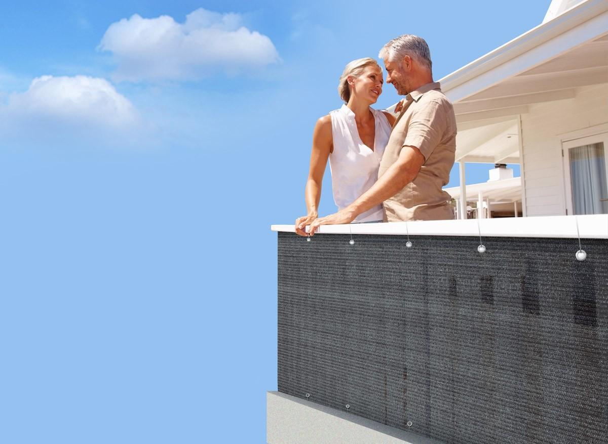 brise vue pour balcon 5 m. Black Bedroom Furniture Sets. Home Design Ideas