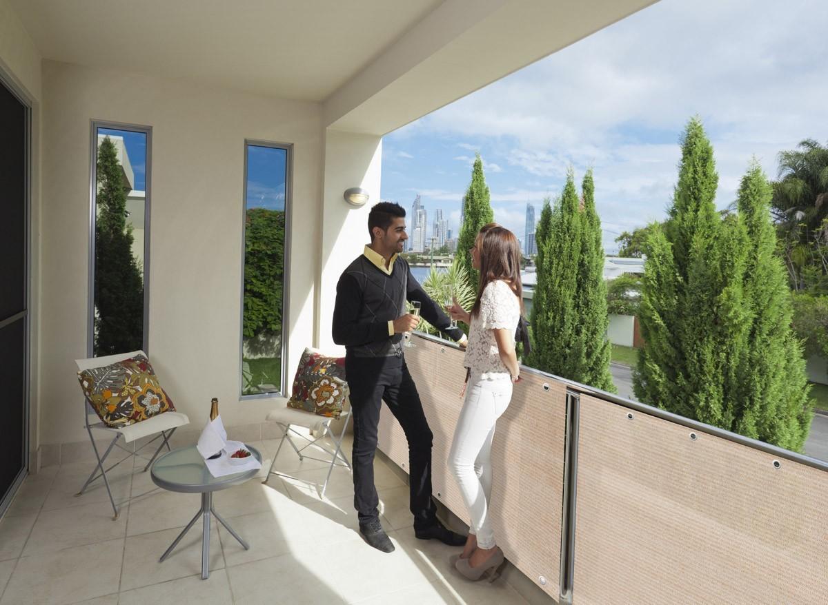 Brise vue balcon et terrasse synthétique  longueur 5 mètres
