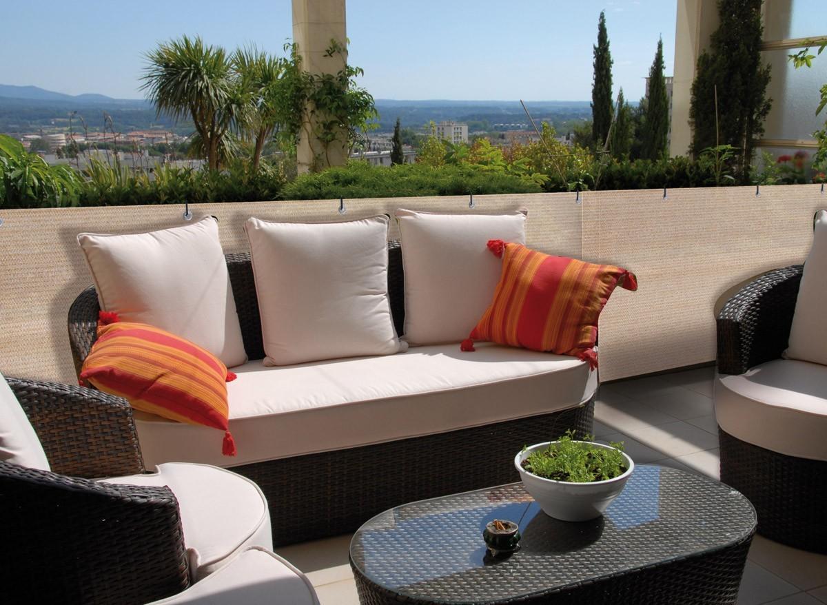 Brise vue balcon et terrasse synth tique longueur 5 m tres - Croisillon pour balcon ...