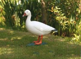 Oie blanche décorative de bassin à poser