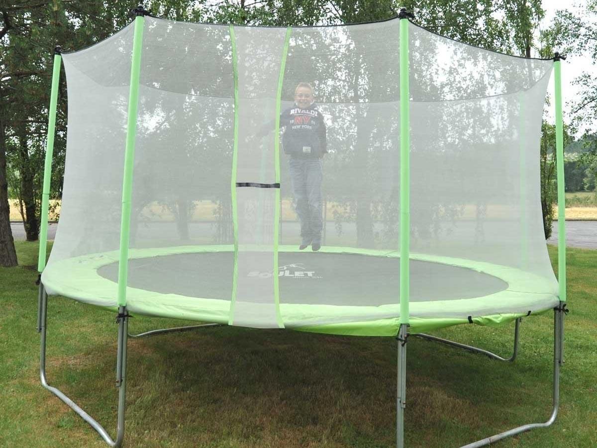 trampoline pas cher pour enfant protection 365 cm soulet. Black Bedroom Furniture Sets. Home Design Ideas