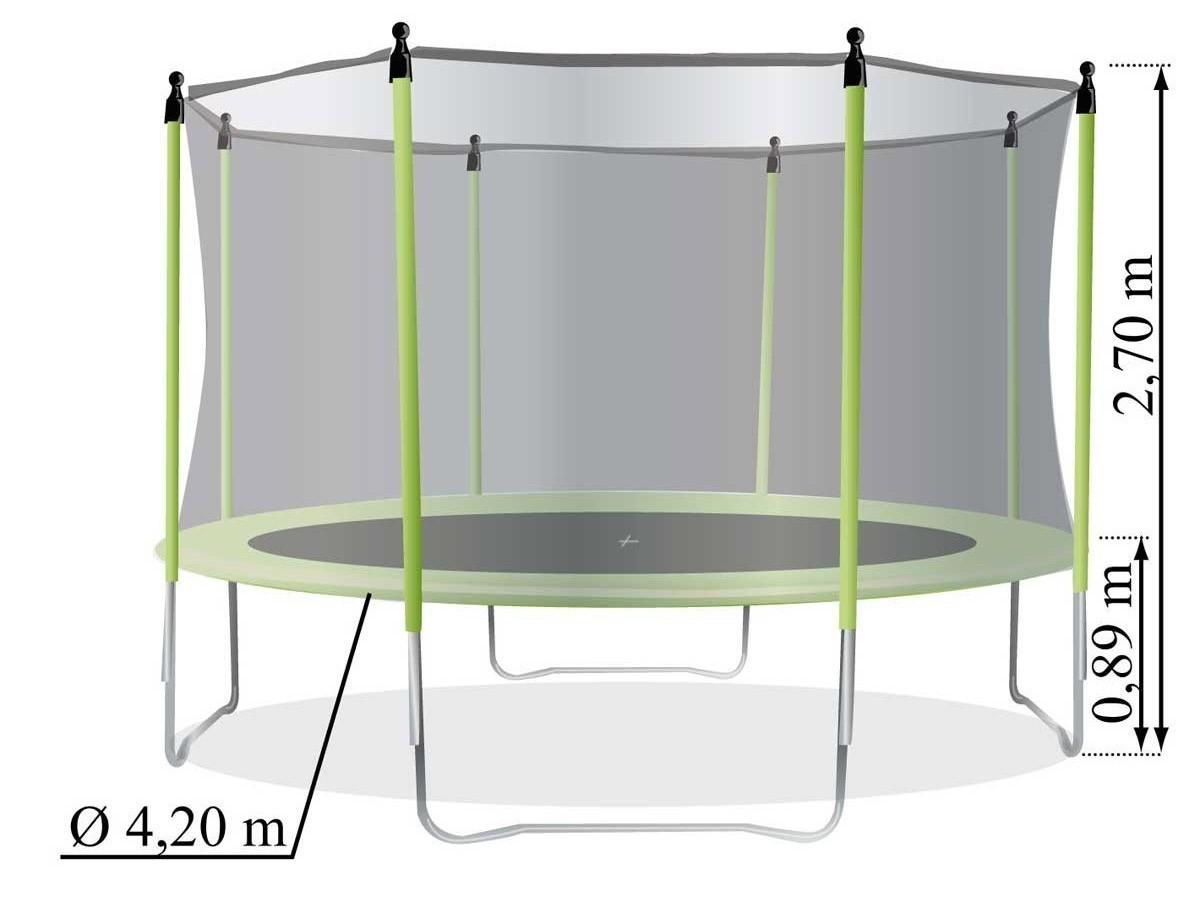 trampoline pas cher pour enfant protection 420 cm soulet. Black Bedroom Furniture Sets. Home Design Ideas