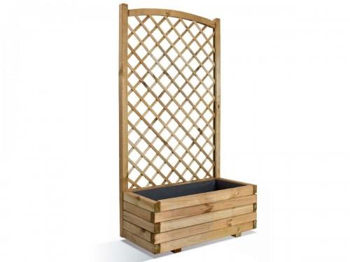 Jardinière en bois rectangulaire Lierre 80