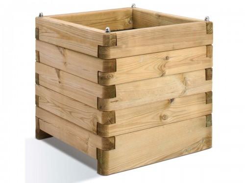 jardini re bois carr e ol a 60 litres jardipolys jardideco. Black Bedroom Furniture Sets. Home Design Ideas