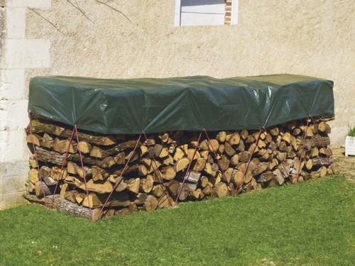 Bâche de protection spéciale bois 1,70 x 8 m