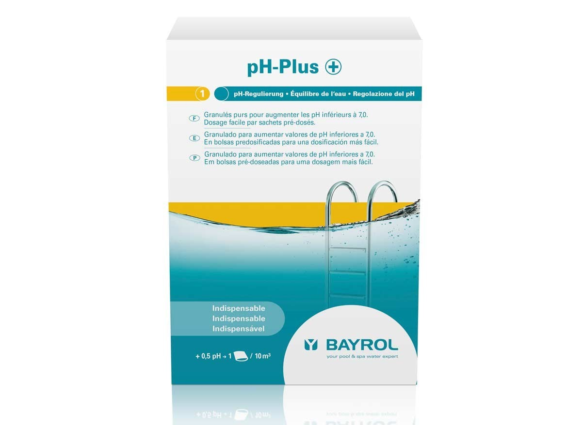 Ph plus bayrol 3 sachets de 500g poudre jardideco for Ph piscine trop haut