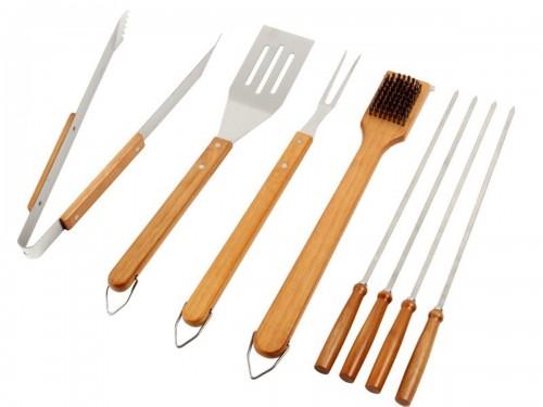 Set 8 accessoires inox pour barbecue