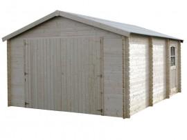 Garage bois 34 mm - 19,99 m²