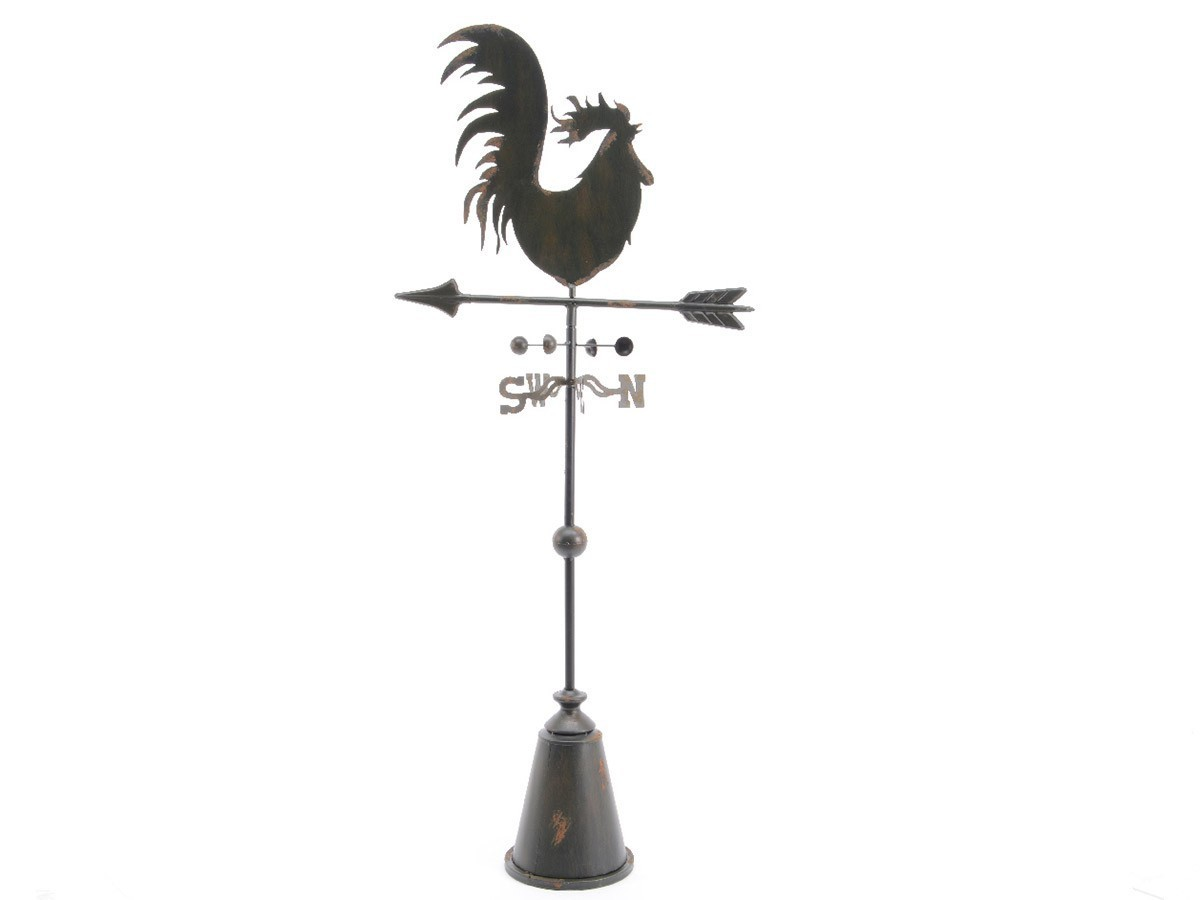 girouette en forme de coq en fonte 129 cm d co jardin. Black Bedroom Furniture Sets. Home Design Ideas
