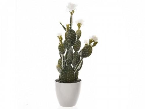 Cactus fleurs artificiel kaemingk prix mini for Cactus artificiel