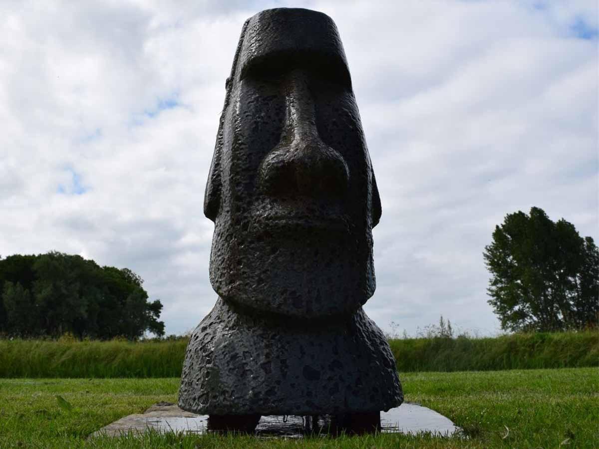 Fontaine De Jardin Orito Statue De L Ile De Paques Avec Led