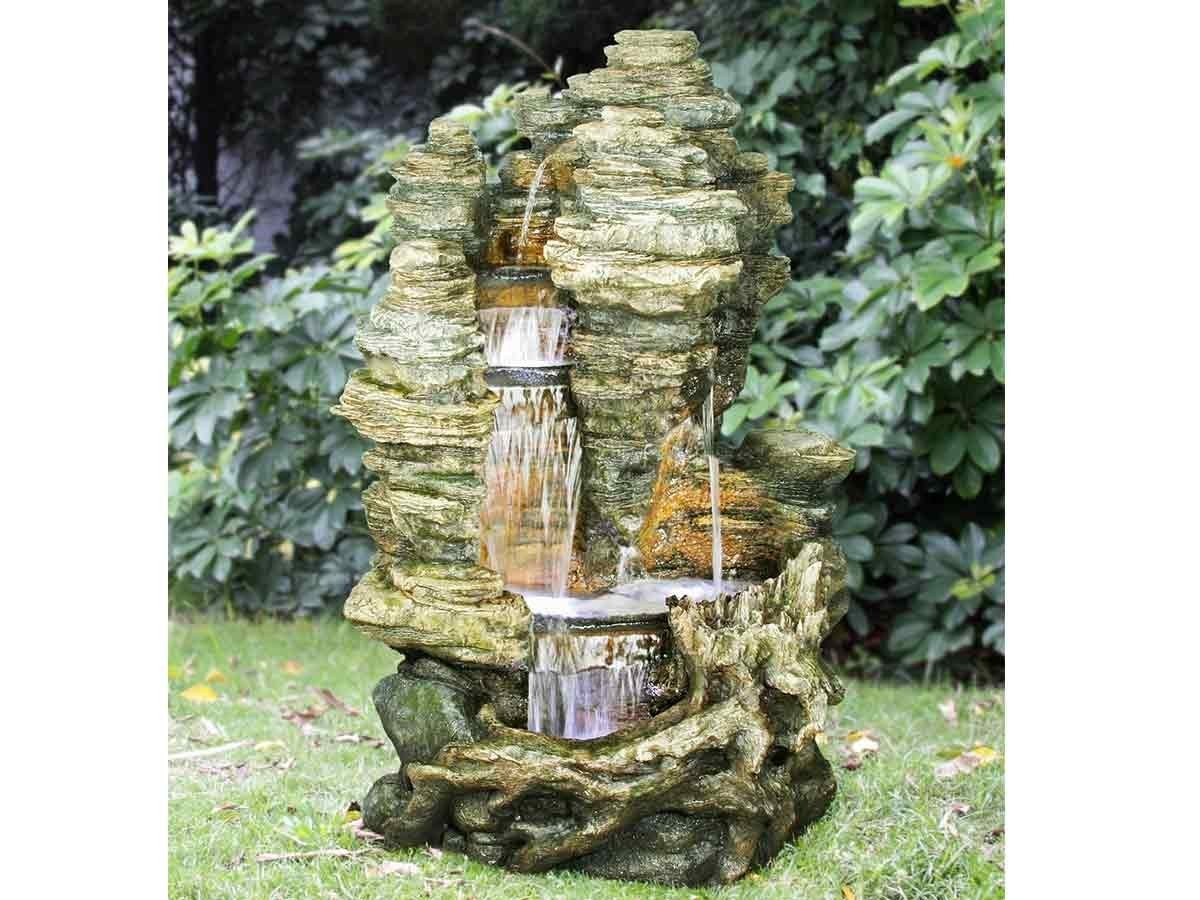 stunning fontaine de jardin avec cascade ideas. Black Bedroom Furniture Sets. Home Design Ideas