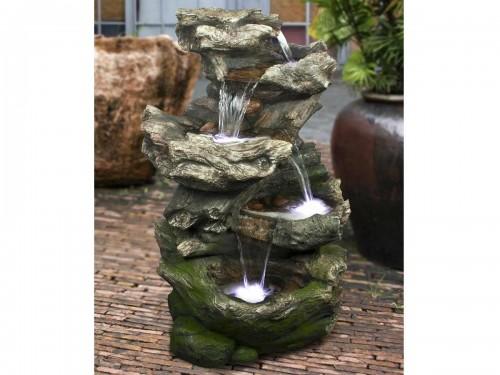 Fontaine de jardin norfolk rochers avec cascade jardideco - Fontaine solaire pas cher ...