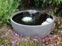 Fontaine de jardin ronde - Grise