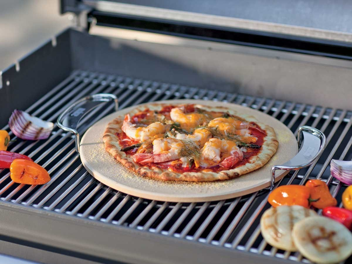 Pierre pizza pour barbecue weber gourmet system petit prix - Pierre a pizza barbecue gaz ...