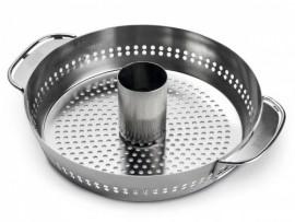 Gourmet System - Plat de cuisson à volaille pour barbecue Weber