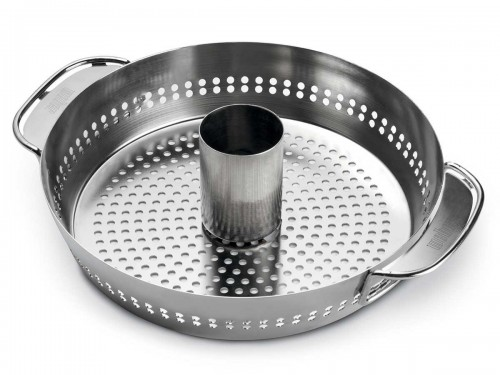 Plat de cuisson volaille gourmet system pour barbecue weber for Plat cuisson inox
