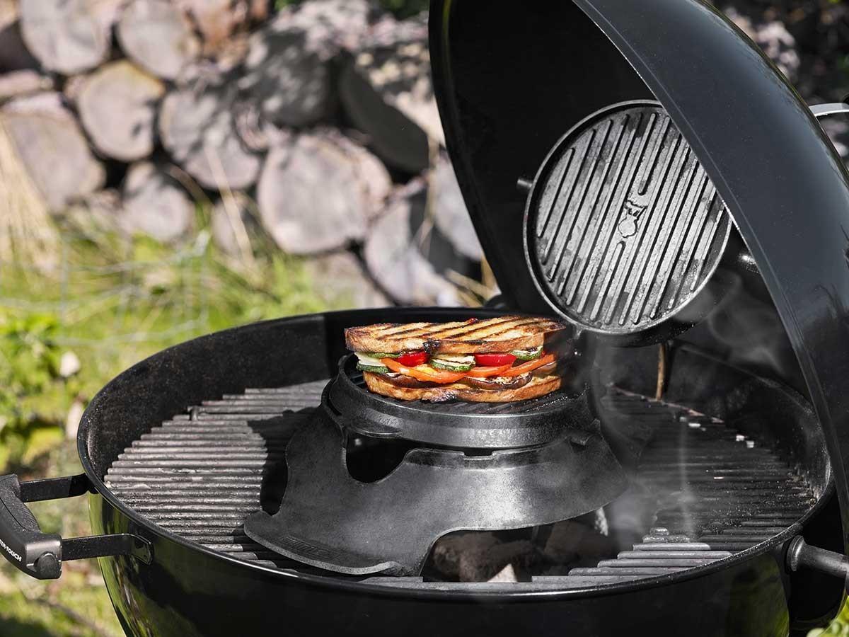 Croque monsieur gaufrier gourmet system pour barbecue weber - Gaufrier grill croque monsieur ...