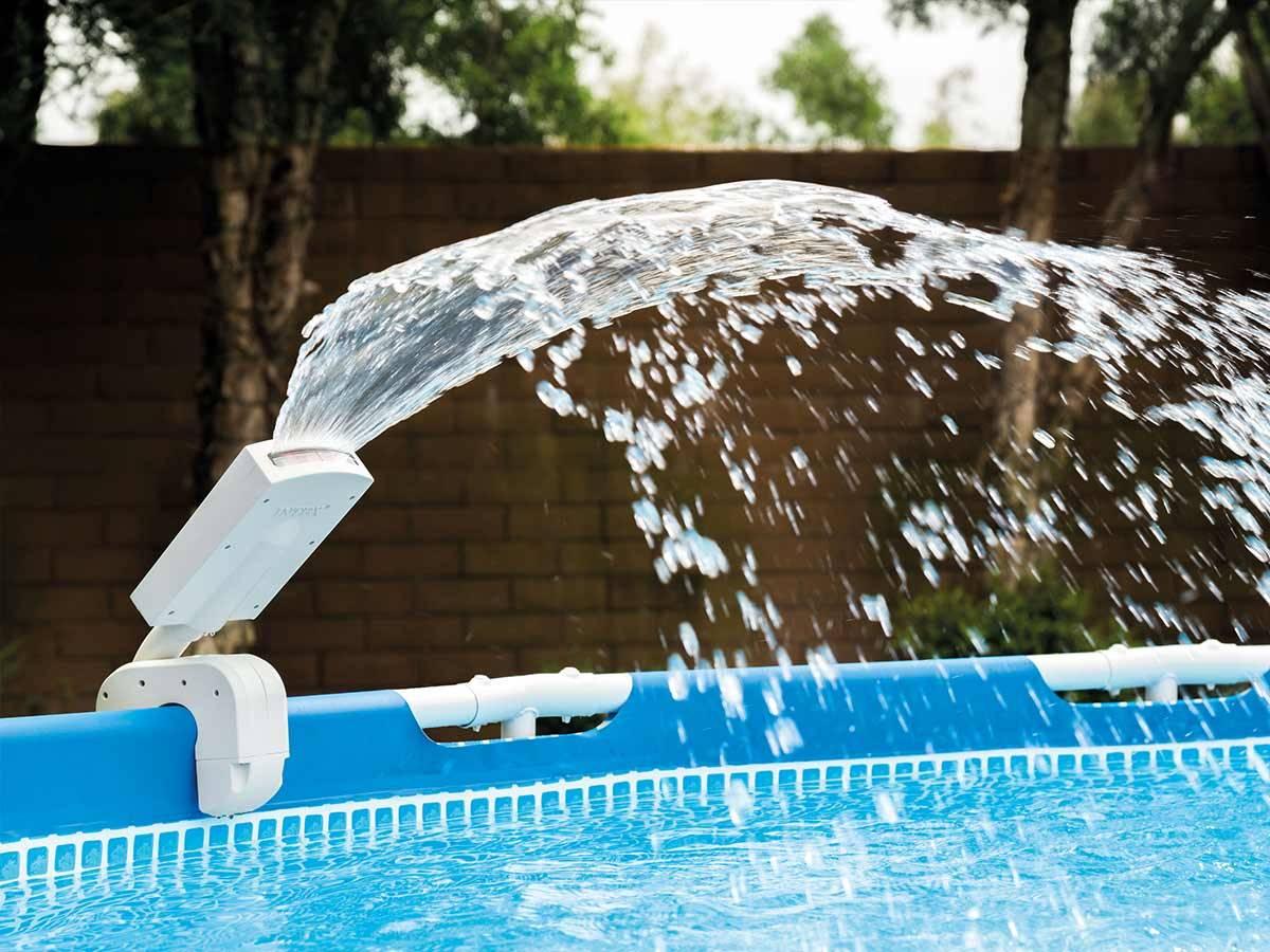 Piscine Hors Sol Avec Toboggan fontaine de piscine avec led multicolore - intex