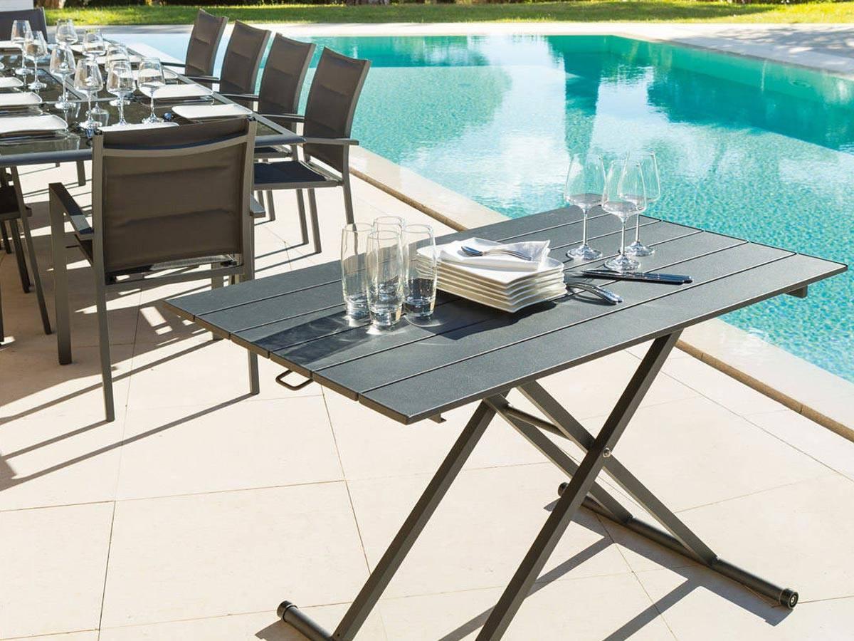 table salon modulable hauteur interesting agrandir plateau color pour cette table double. Black Bedroom Furniture Sets. Home Design Ideas
