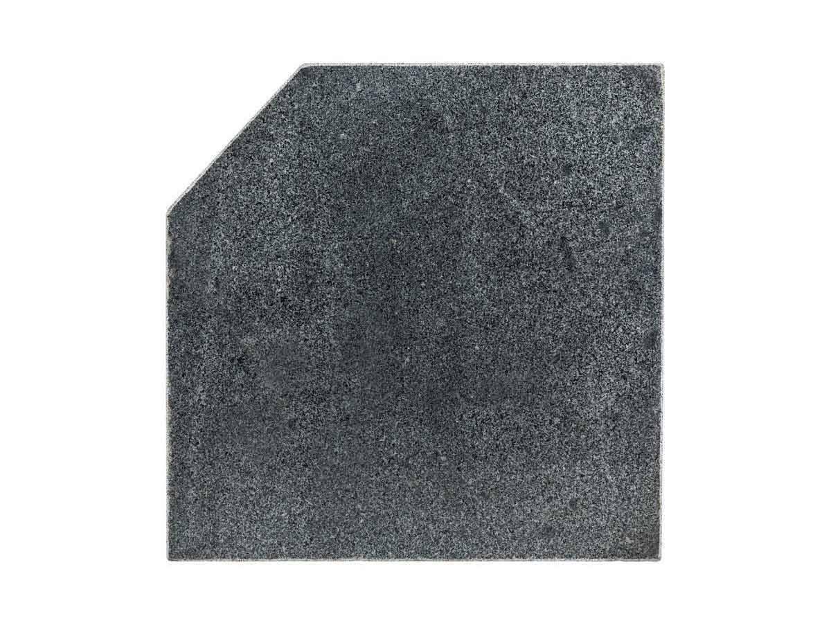 Dalle pour parasol déporté Hespéride en marbre poids 28 kg