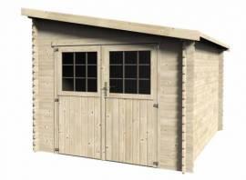 Abri de jardin bois Mono-pente 28 mm - 7,30 m²