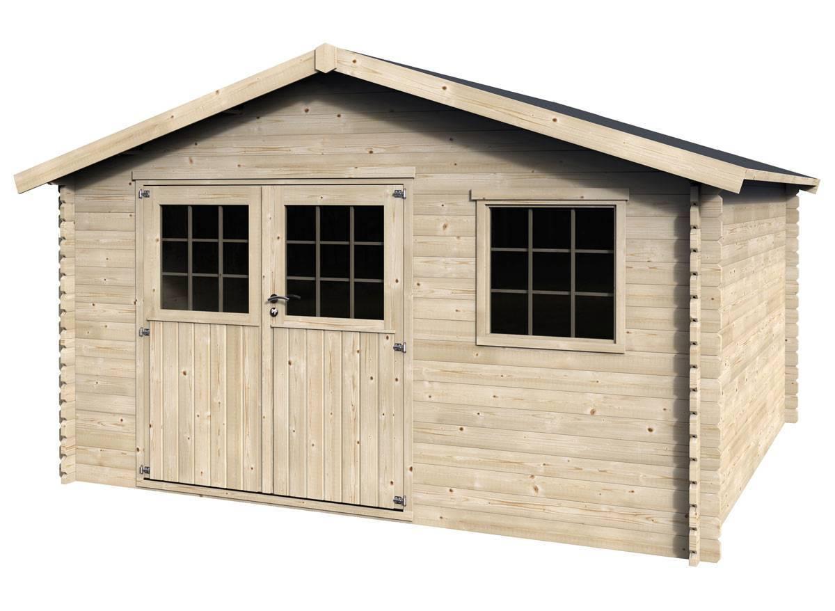 abri de jardin bois valfor 34 mm 15 84 m jardideco. Black Bedroom Furniture Sets. Home Design Ideas