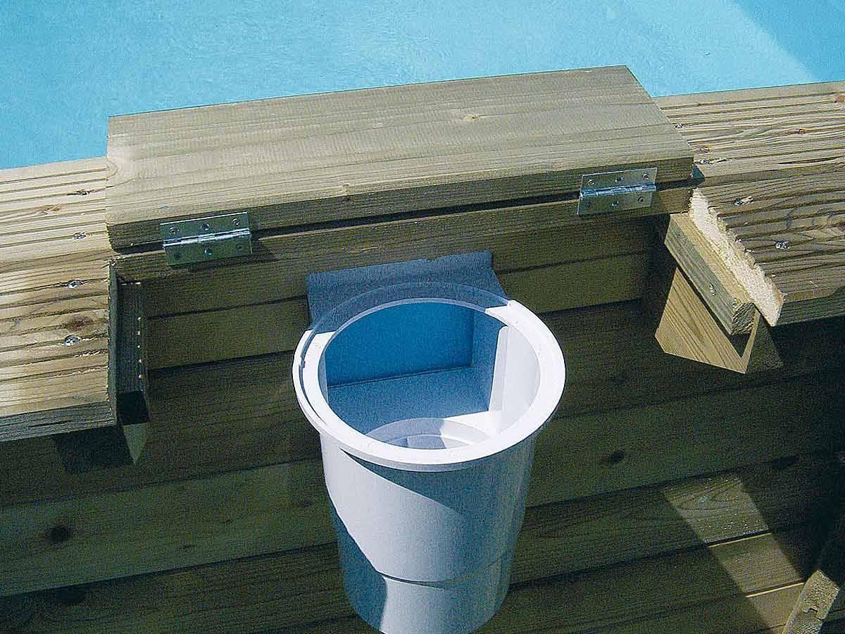 Skimmer de surface pour piscine bois ubbink tous mod les for Accessoire pour piscine bois
