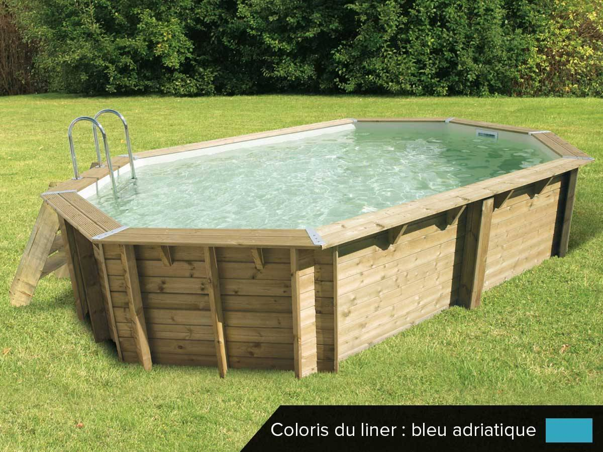 piscine bois pas cher ocea 6 10 x 4 00 x 1 30 m ubbink. Black Bedroom Furniture Sets. Home Design Ideas