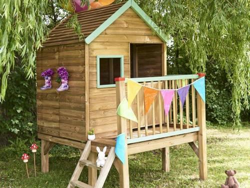 cabane enfant bois forest style mod le winny petit prix. Black Bedroom Furniture Sets. Home Design Ideas